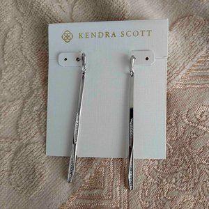 Kendra Scott Melissa Silver Crystal Earrings